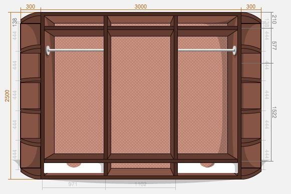 конструктор-калькулятор шкафов-купе